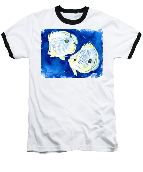 Foureye Butterflyfish Baseball T-Shirt