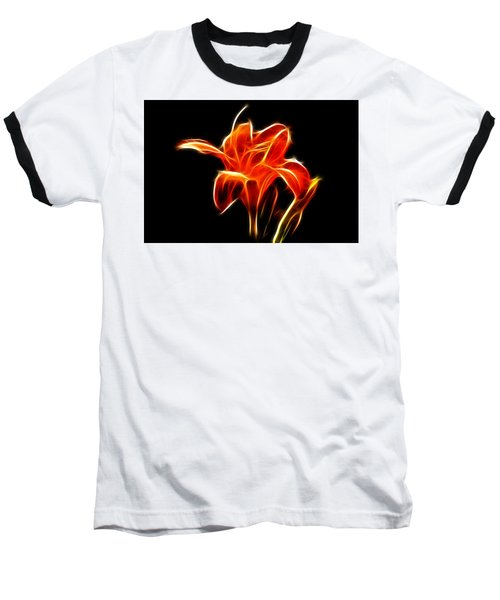 Fractaled Lily Baseball T-Shirt
