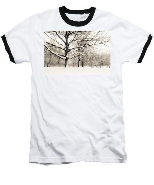 Francis Park In Snow Baseball T-Shirt