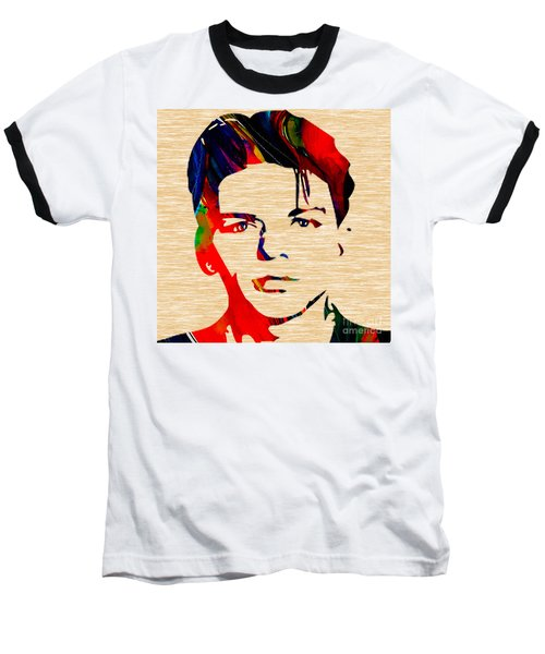 Baseball T-Shirt featuring the mixed media Frank Sinatra Art by Marvin Blaine