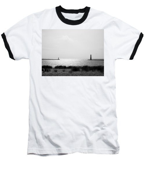 Frankfort Michigan Harbor Baseball T-Shirt
