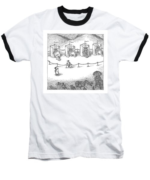 Freak Show Of Average Beach-goers Baseball T-Shirt