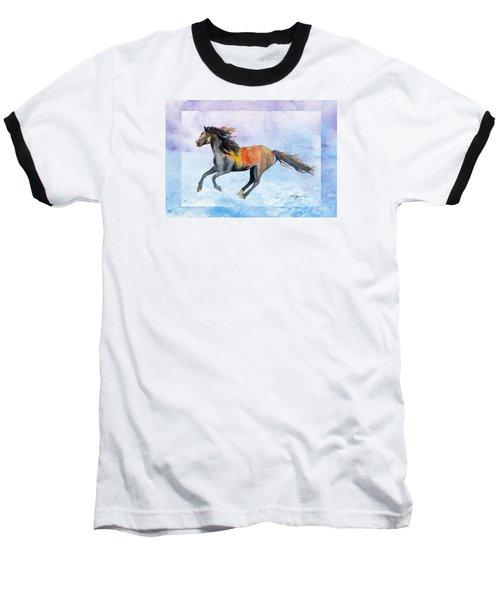 Da114 Free Gallop By Daniel Adams Baseball T-Shirt