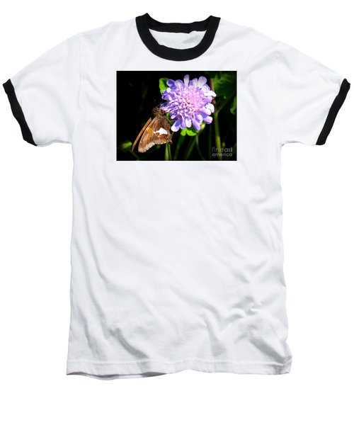 Baseball T-Shirt featuring the photograph Silver Spotted Skipper by Patti Whitten