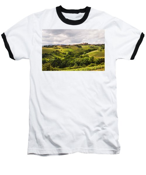Baseball T-Shirt featuring the photograph French Countryside by Allen Sheffield