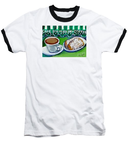 Baseball T-Shirt featuring the painting French Quarter Delight by Ecinja