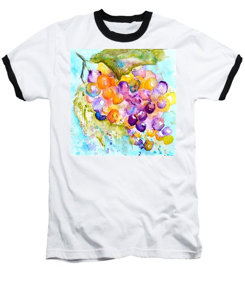 Baseball T-Shirt featuring the painting Fresh Grapes by Beverley Harper Tinsley
