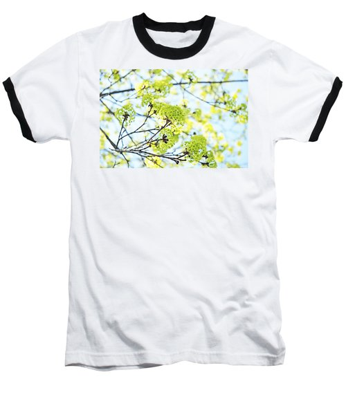 Baseball T-Shirt featuring the photograph Fresh Spring Green Buds by Brooke T Ryan