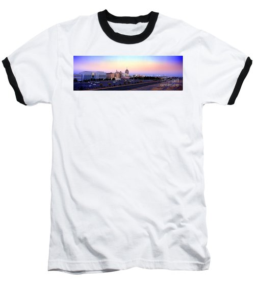 Fresno Skyline Into The Evening Baseball T-Shirt