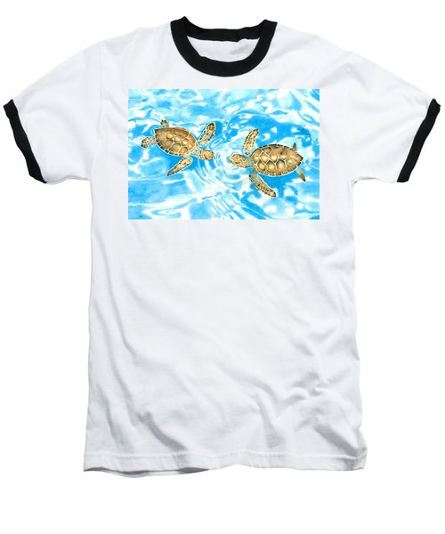 Friends Baby Sea Turtles Baseball T-Shirt