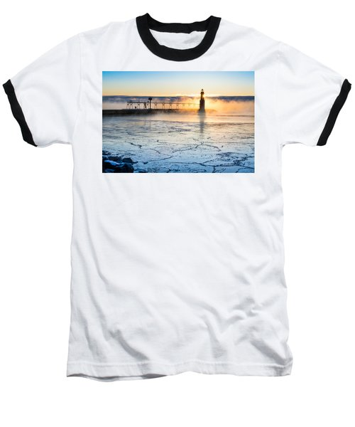 Frigid Sunrise Fog  Baseball T-Shirt