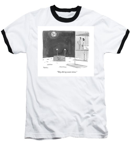 From An Apartment Window On The Moon Baseball T-Shirt