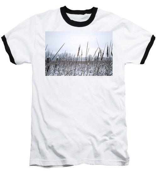 Frosty Cattails Baseball T-Shirt