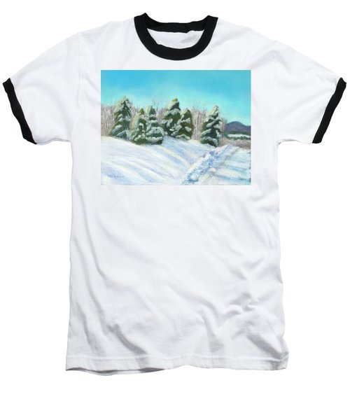 Baseball T-Shirt featuring the painting Frozen Sunshine by Arlene Crafton