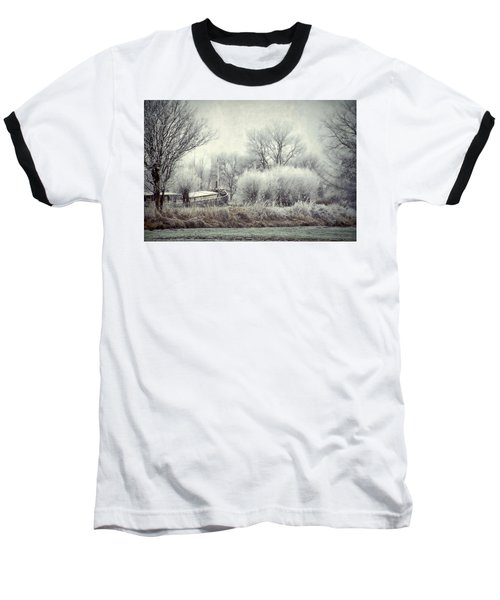 Baseball T-Shirt featuring the photograph Frozen World by Annie Snel