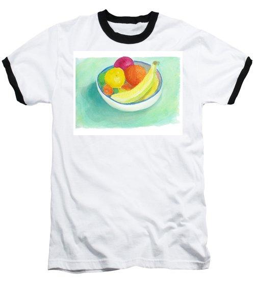 Fruit Bowl Baseball T-Shirt by C Sitton