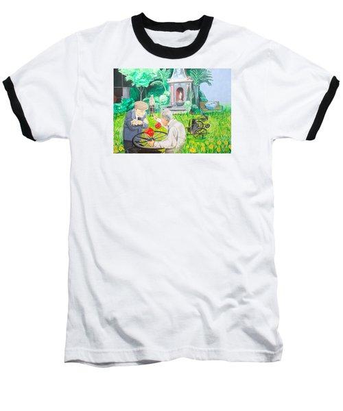 Baseball T-Shirt featuring the painting Gambling Grandma  by Lazaro Hurtado
