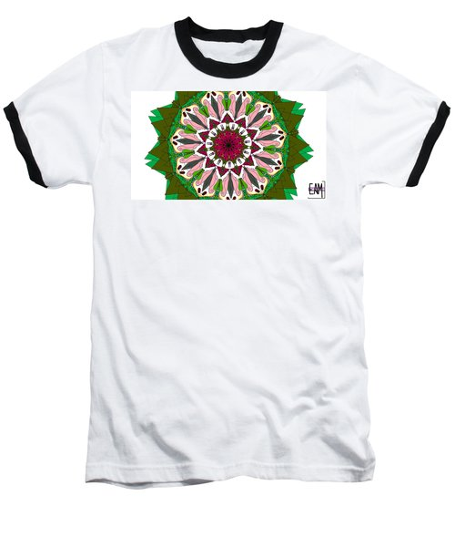 Baseball T-Shirt featuring the digital art Garden Party by Elizabeth McTaggart