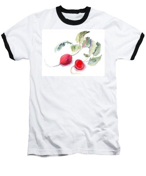 Garden Radish Baseball T-Shirt