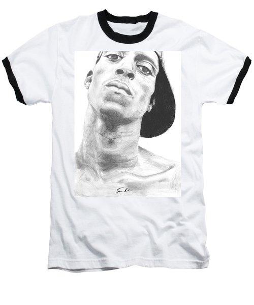 Baseball T-Shirt featuring the drawing Garnett 3 by Tamir Barkan