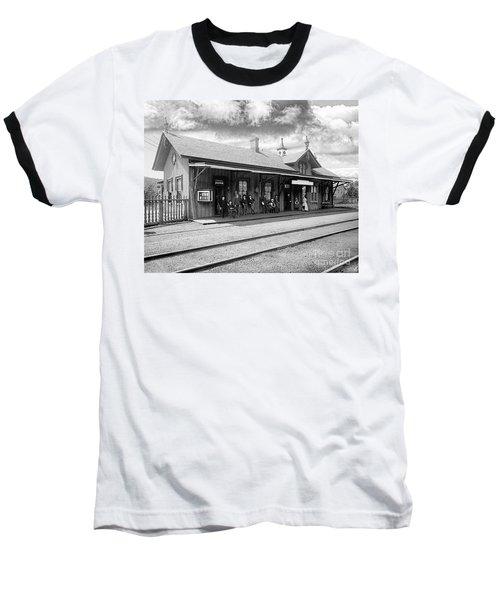 Garrison Train Station In Black And White Baseball T-Shirt
