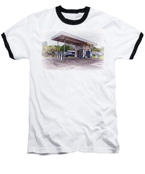 Baseball T-Shirt featuring the photograph Gasoline Station by Jim Thompson