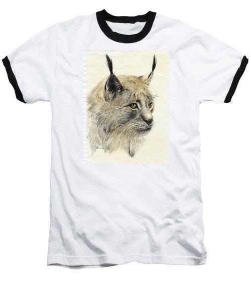 Gazing Lynx Baseball T-Shirt by Phyllis Howard