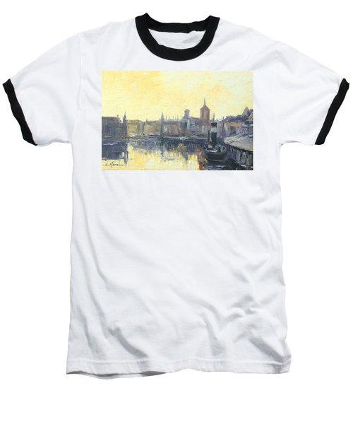 Gdansk Harbour - Poland Baseball T-Shirt