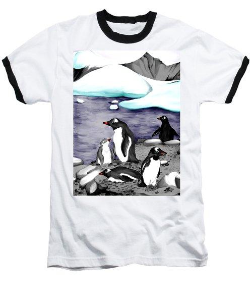 Gentoo Penguins Baseball T-Shirt