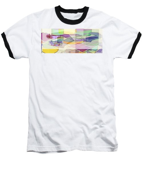 Baseball T-Shirt featuring the digital art Geo-art by Cathy Anderson