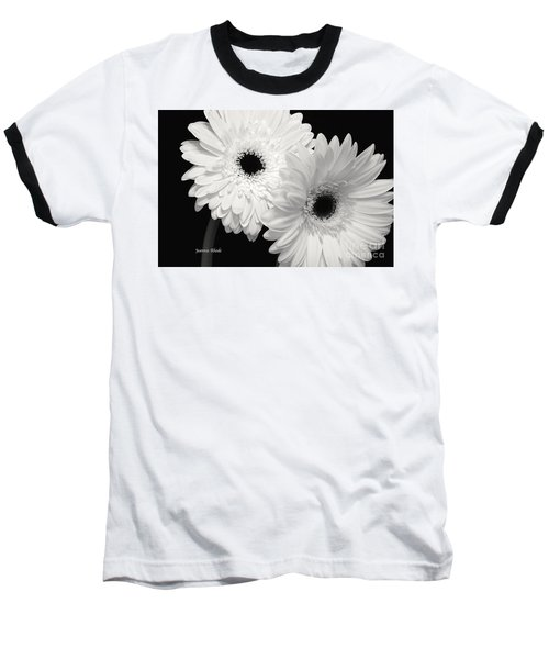 Baseball T-Shirt featuring the photograph Gerbera Daisy Sisters by Jeannie Rhode