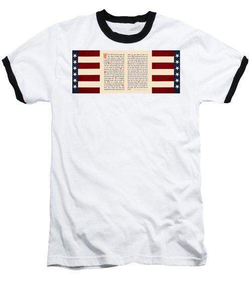 Gettysburg Address Baseball T-Shirt