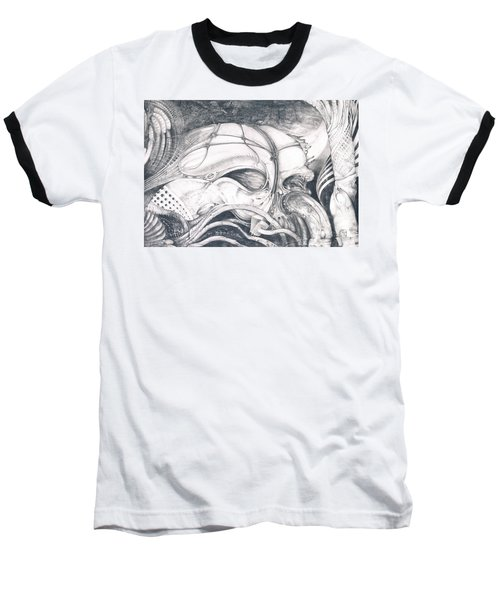 Baseball T-Shirt featuring the drawing Ghost In The Machine by Otto Rapp