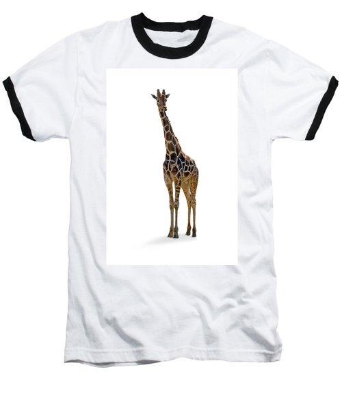 Baseball T-Shirt featuring the photograph Giraffe by Charles Beeler