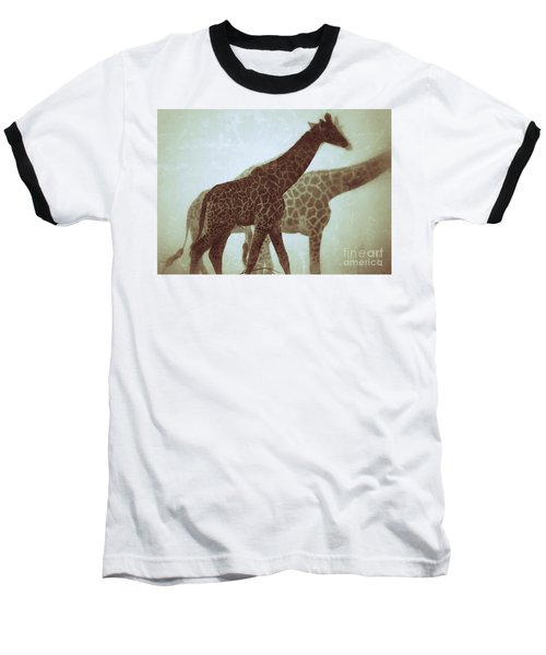 Giraffes In The Mist Baseball T-Shirt