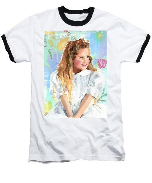 Girl In A White Lace Dress  Baseball T-Shirt