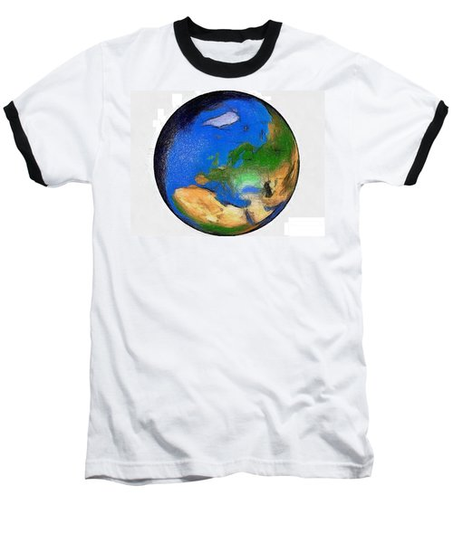 Baseball T-Shirt featuring the painting Globe 3d Picture by Georgi Dimitrov
