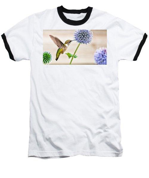 Globe Thistle Hummer Baseball T-Shirt