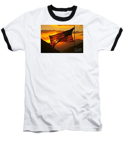 Glory At Sunset Baseball T-Shirt