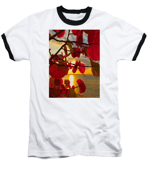 Glowing Red Baseball T-Shirt by Stephen Anderson