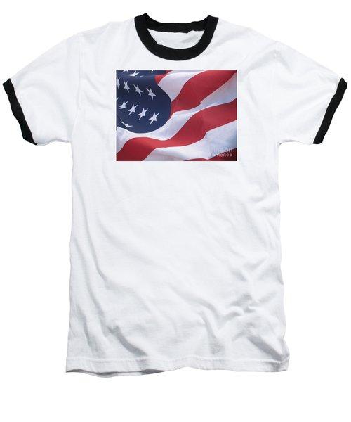 Baseball T-Shirt featuring the photograph God Bless America by Chrisann Ellis
