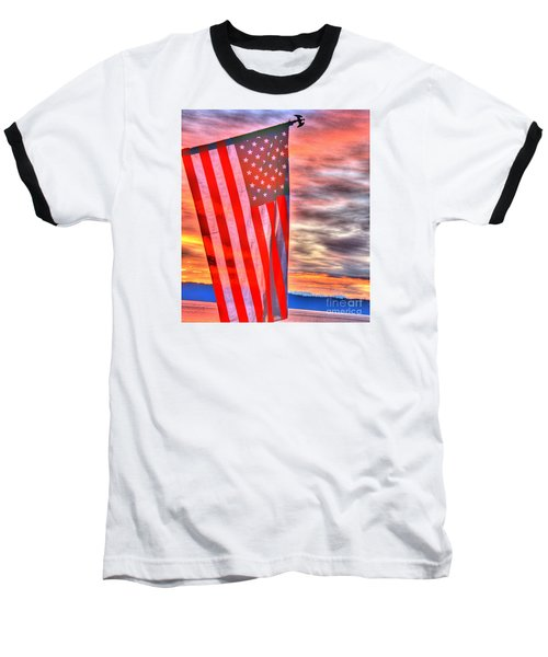 God Bless America Over Puget Sound Baseball T-Shirt
