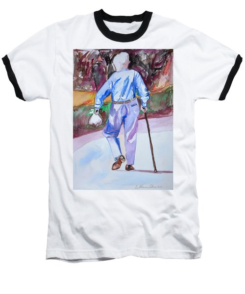 Going Home Baseball T-Shirt by Esther Newman-Cohen