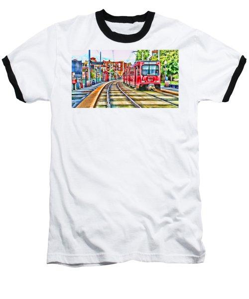 Going To Gillespie Field By Diana Sainz Baseball T-Shirt