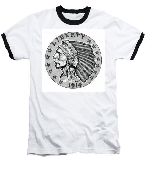 Gold Quarter Eagle Baseball T-Shirt