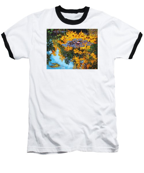 Gold Reflections Baseball T-Shirt by John Lautermilch
