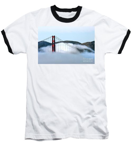 Golden Gate Bridge Clouds Baseball T-Shirt