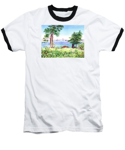 Golden Gate Bridge View From Lincoln Park San Francisco Baseball T-Shirt