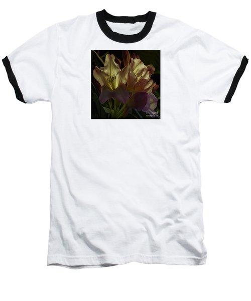 Golden Reserve Baseball T-Shirt by Jean OKeeffe Macro Abundance Art
