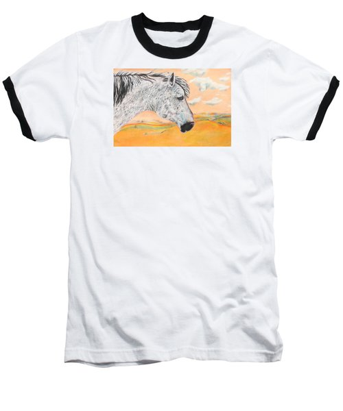 Baseball T-Shirt featuring the painting Golden Sky by Jeanne Fischer
